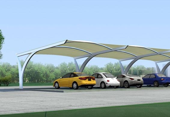 膜结构停车棚图